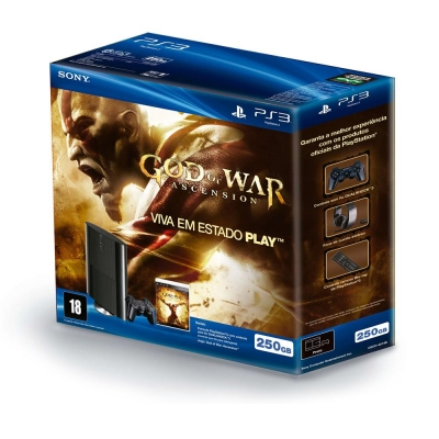 Console PlayStation 3 Slim 250GB - Sony + Jogo PS3 God of War: Ascension